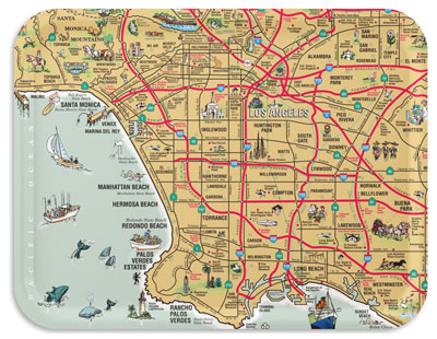 Los Angeles map tray