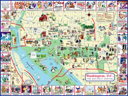 Washington DC Visitors Map