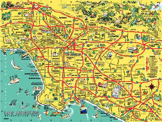 La And Orange County Map