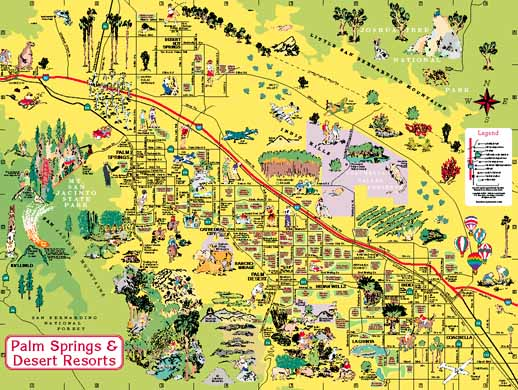 Palm Springs & Desert Resorts Visitor's Map