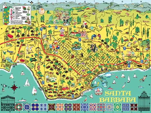 Map Of Santa Barbara EDEK – Santa Barbara Tourist Attractions Map