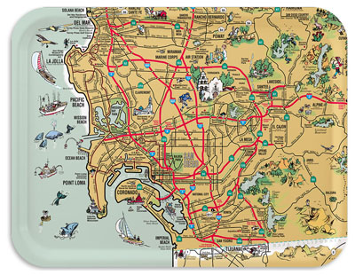 San Diego Map Area.San Diego Map A Clickable Pictorial Map Of San Diego County