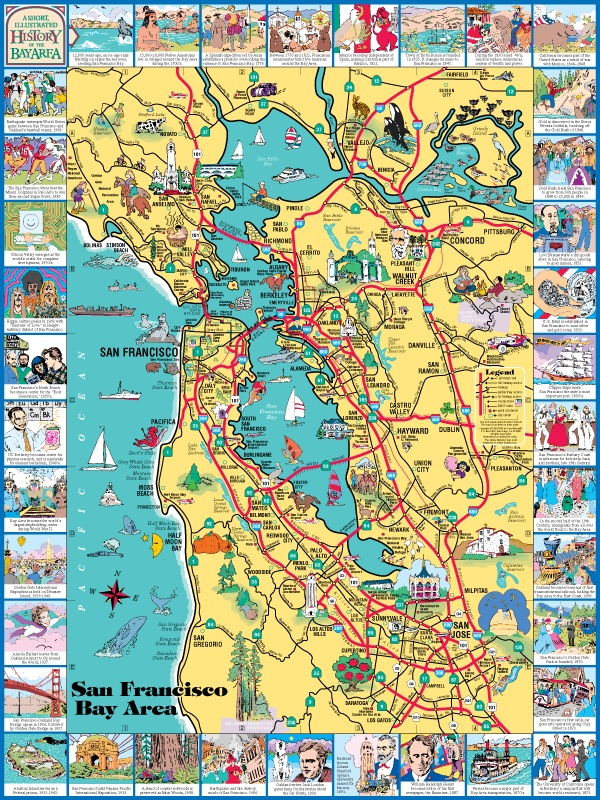 San Francisco The Bay Area Visitor S Map The only thing i wish it had were more regular and later service. carol mendel maps