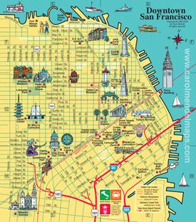 downtown San Francisco map