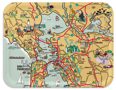 San Francisco map tray